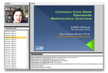 Common Core State Standards in Math Webinar